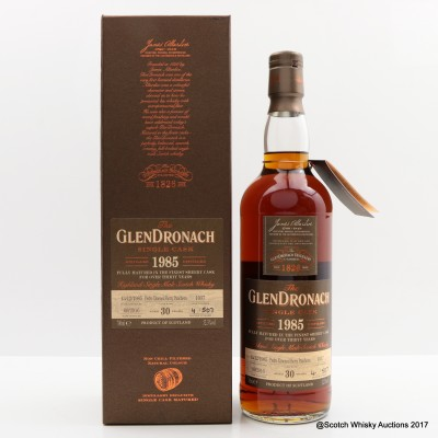 GlenDronach 1985 30 Year Old Single Cask #1037