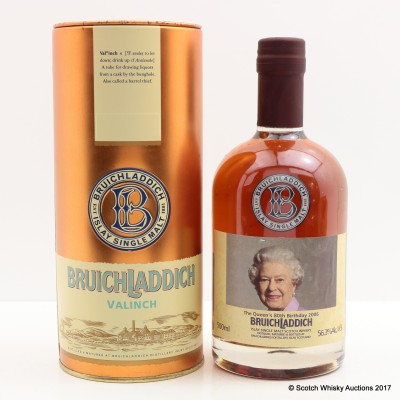Bruichladdich Valinch 1988 Queen's 80th Birthday 50cl