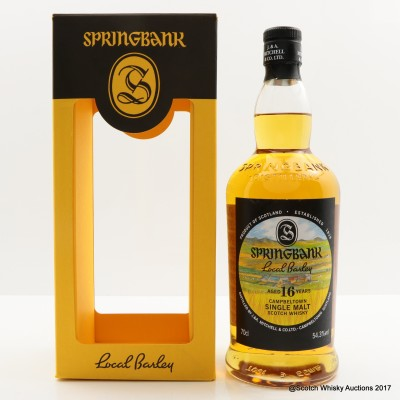 Springbank 1999 16 Year Old Local Barley