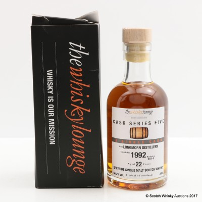 Longmorn 1992 22 Year Old The Whisky Lounge Cask Series 5 20cl