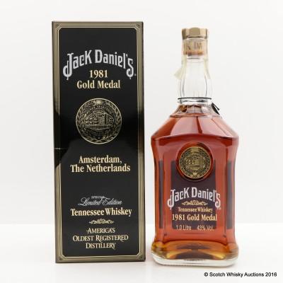 Jack Daniel's 1981 Gold Medal 1L