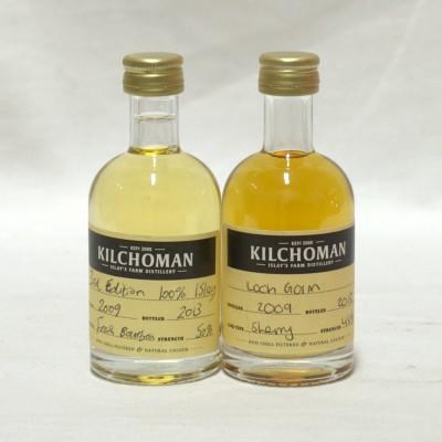 Kilchoman Minis x 2 Loch Gorm & 100% Islay 3rd Edition