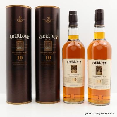Aberlour 10 Year Old 2 x 70cl