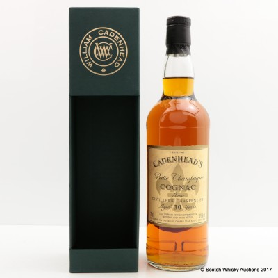 Petite Champagne Cognac 30 Year Old Cadenhead's 2016 Release