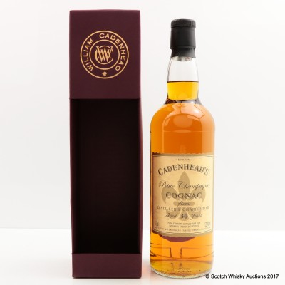 Petite Champagne Cognac 30 Year Old Cadenhead's 2015 Release