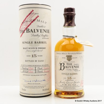 Balvenie 15 Year Old Single Barrel In Honor Of Sandy Grant Gordon In His 65th Year