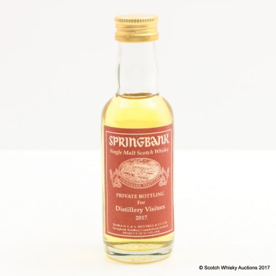 Springbank 2017 Bottling Mini 5cl