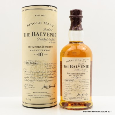 Balvenie 10 Year Old Founder's Reserve Extra Quality