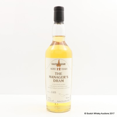 Manager's Dram Glenlossie 12 Year Old Charity Lot