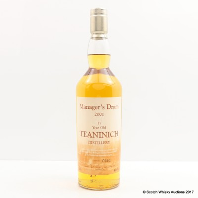 Manager's Dram Teaninich 17 Year Old Charity Lot