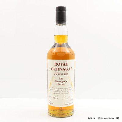 Manager's Dram Royal Lochnagar 10 Year Old Charity Lot