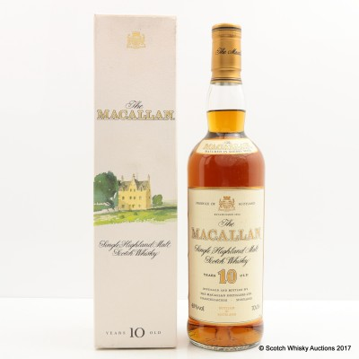 Macallan 10 Year Old Old Style For Charity Lot