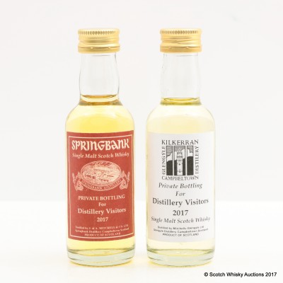 SPRINGBANK 2017 DISTILLERY VISITORS MINI & KILKERRAN 2017 DISTILLERY VISITORS MINI 2 X 5CL
