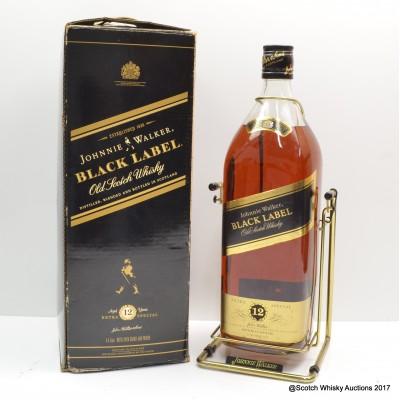 Johnnie Walker 12 Year Old Black Label 4.5L in Cradle