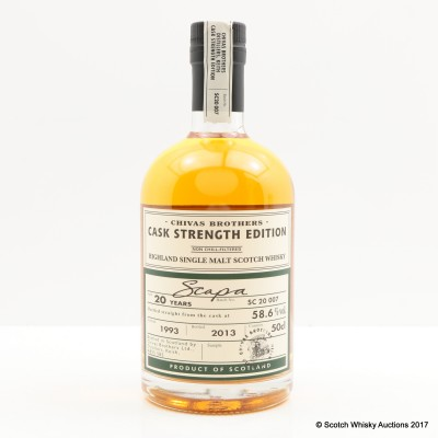 Scapa 1993 20 Year Old Chivas Brothers Cask Strength Edition 50cl