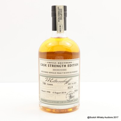 Miltonduff 1998 16 Year Old Chivas Brothers Cask Strength Edition 50cl