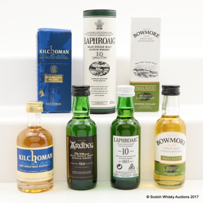 Assorted Minis 4 x 5cl Including Laphroaig 10 Year Old