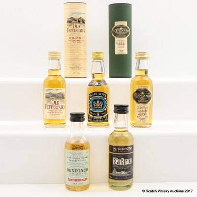 Assorted Minis 5 x 5cl Including Blair Athol 8 Year Old
