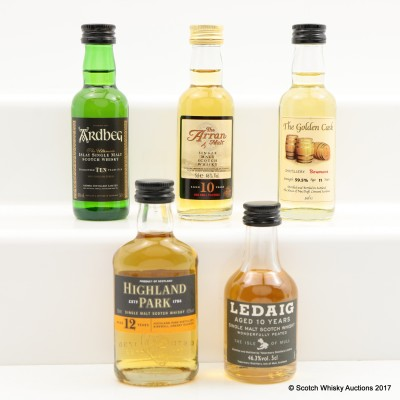 Assorted Minis 5 x 5cl Including Arran 10 Year Old