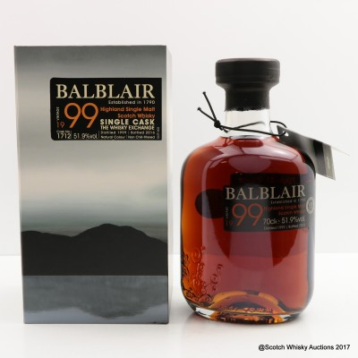 Balblair 1999 Single Cask The Whisky Exchange