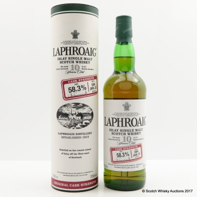 Laphroaig 10 Year Old Cask Strength Batch #4