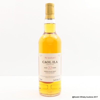 Caol Ila 1990 22 Year Old The Syndicate