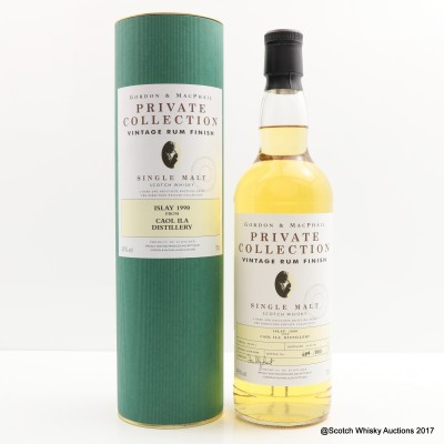 Caol Ila 1990 Rum Finish Gordon & MacPhail Private Collection