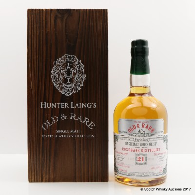 Rosebank 1992 21 Year Old Hunter Laing's Old & Rare
