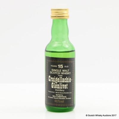 Craigellachie-Glenlivet 15 Year Old Cadenhead's Mini 5cl
