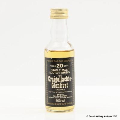 Craigellachie-Glenlivet 20 Year Old Cadenhead's Mini 5cl