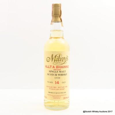 Allt-A-Bhaine 1981 14 Year Old Milroy's
