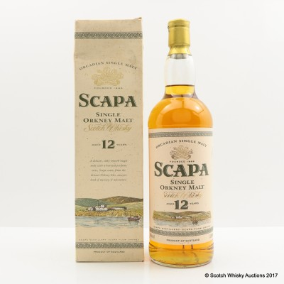 Scapa 12 Year Old Old Style 1L