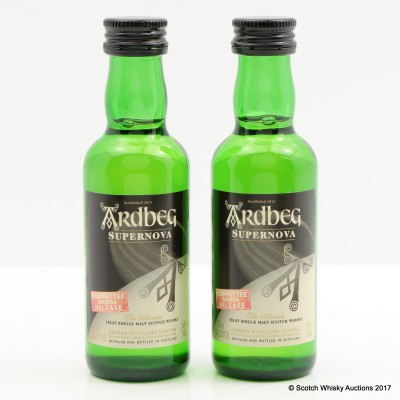 Ardbeg Supernova Committee Release SN2014 minis 2 x 5cl