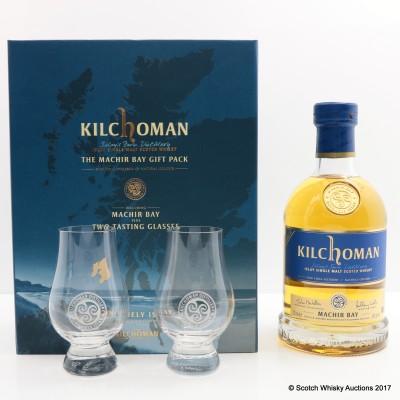 Kilchoman Machir Bay 2014 Gift Pack with Glasses