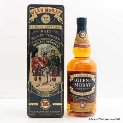 Glen Moray 16 Year Old Highland Regiments Queen's Own Cameron Highlanders