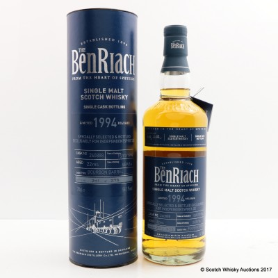 BenRiach 1994 22 Year Old Single Cask For Independentspirit.de