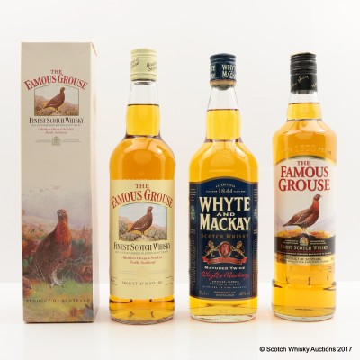 Famous Grouse x 2 & Whyte & Mackay 3 x 70cl