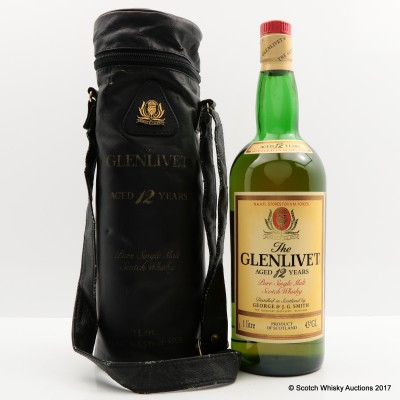 Glenlivet 12 Year Old N.A.A.F.I Edition 1L in Leather Bag