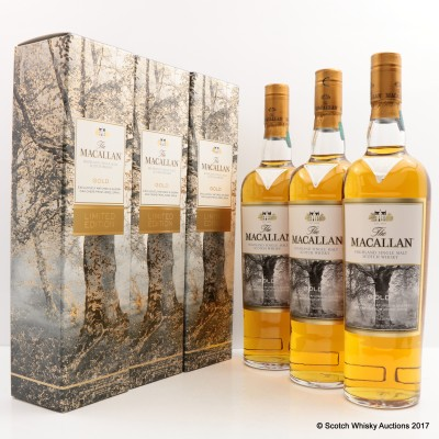 Macallan Gold Limited Edition 3 x 70cl