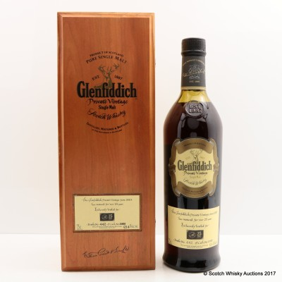 Glenfiddich 1983 25 Year Old Private Vintage for Dubai Duty Free 75cl