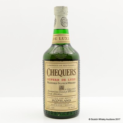 Chequers Superb De Luxe Blended Whisky 26 2/3 FL OZ