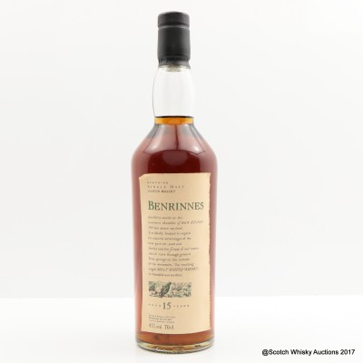 Flora & Fauna Benrinnes 15 Year Old