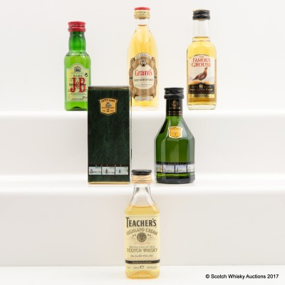 Assorted Miniatures 5 x 5cl including Cutty Sark 12 Year Old