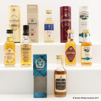 Assorted Miniatures 6 x 5cl including Linkwood 15 year Old Gordon & MacPhail