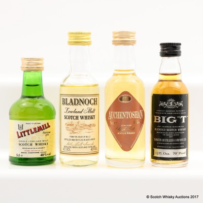 Assorted Minis 4 x 5cl Including Littlemill Mini 5cl