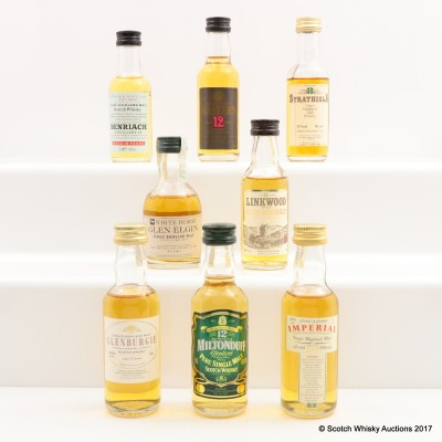 Assorted Minis 8 x 5cl Including Imperial 1979 Gordon & MacPhail