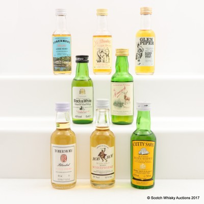 Assorted Minis 8 x 5cl Including Tobermory Blended Scotch