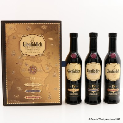 Glenfiddich Age Of Discovery Bourbon Cask, Madeira Cask & Red Wine Cask 3 x 20cl