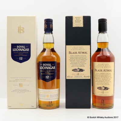 Royal Lochnagar 12 Year Old & Flora & Fauna Blair Atholl 12 Year Old 2 x 70cl