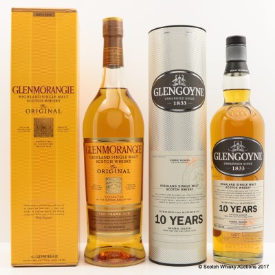 Glenmorangie 10 Year Old 1L & Glengoyne 10 Year Old 70cl